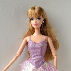 Barbie y Ken: BARBIE VESTIDO BODY MORADO TIRANTES. Lote 191172208