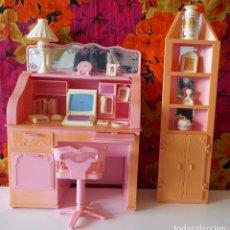 Barbie y Ken: BARBIE ESCRITORIO MAGICO Y ARMARIO ESQUINERO-SWEET ROSES-MATTEL 1988. Lote 204219457