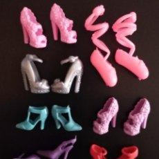 Barbie y Ken: LOTE DE ZAPATOS PARA BARBIE O SIMILAR ( 10 PARES). Lote 191931617