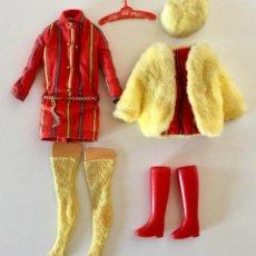 Barbie y Ken: VESTIDO PARA BARBIE-SMASHEROO-VINTAGE MATTEL ORIGINAL 1968-ABRIGO SOMBRERO BOTAS MEDIAS PERCHA. Lote 192808347