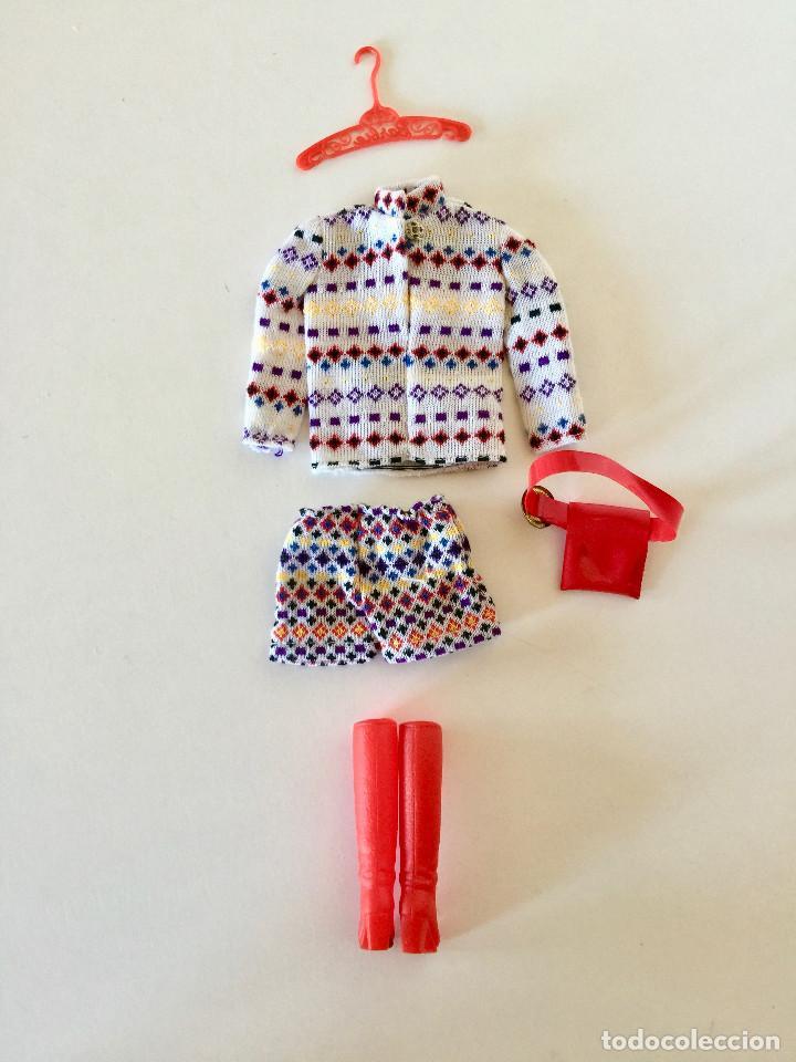 Barbie y Ken: VESTIDO PARA BARBIE-THE SHORT SET-VINTAGE MATTEL ORIGINAL 1972 BOTAS CINTURON RINONERA PERCHA - Foto 8 - 192810191