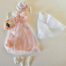 Barbie y Ken: VESTIDO DAMA DE HONOR PARA SKIPPER MUNECA VINTAGE BARBIE MATTEL ORIGINAL 1966. Lote 192813592