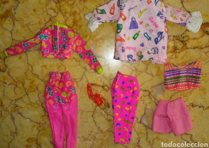 Barbie y Ken: Lote 7 ropa Barbie , workin out aerobic , fashion avenue , hula hair , sit in style - Foto 2 - 193584362