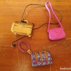 Barbie y Ken: LOTE DE 3 BOLSOS PARA MUÑECA BARBIE, BRATZ, SINDY, MYSCENE, MONTSER HIGH.... Lote 193625520