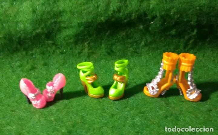 LOTE DE ZAPATOS DECORADOS A MANO PARA BARBIE Y MUÑECAS COMPATIBLES (Juguetes - Muñeca Extranjera Moderna - Barbie y Ken - Vestidos y Accesorios)
