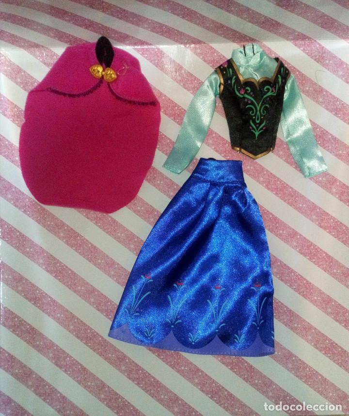 Barbie y Ken: PRECIOSO VESTIDO DE LA PRINCESA ANNA DE FROZEN - DISNEY STORE - Foto 3 - 204230565