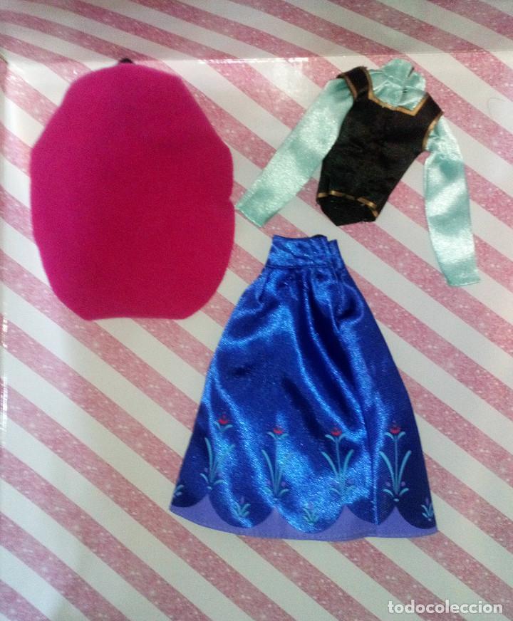 Barbie y Ken: PRECIOSO VESTIDO DE LA PRINCESA ANNA DE FROZEN - DISNEY STORE - Foto 4 - 204230565
