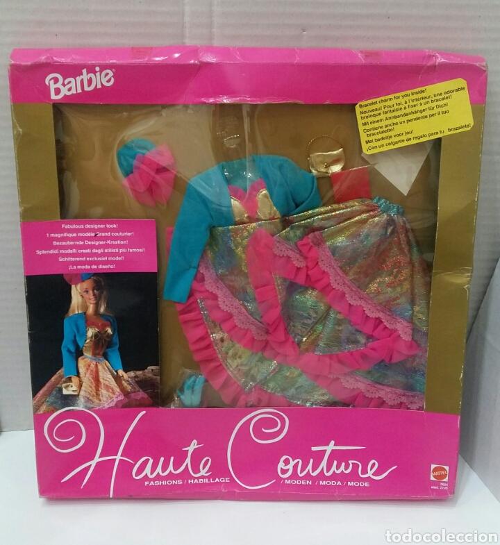BARBIE HAUTE COUTURE. VESTIDO NUEVO EN CAJA. MATTEL. REF 3854. 1992. CONJUNTO ALTA COSTURA. COLGANTE (Juguetes - Muñeca Extranjera Moderna - Barbie y Ken - Vestidos y Accesorios)