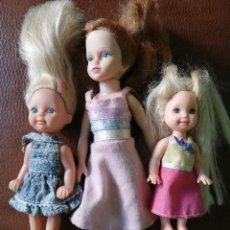 Barbie y Ken: SHELLY O KELLY HERMANITA DE BARBIE Y DOS MUÑECAS MÁS. Lote 206266945
