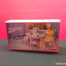 Barbie y Ken: COMEDOR GRAN SALÓN BARBIE PRECINTADO NUEVO A ESTRENAR!!!. Lote 207496425