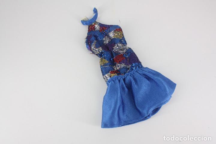 VESTIDO COLOR AZUL SIN MARCA VÁLIDO PARA BARBIE O SIMILAR (Juguetes - Muñeca Extranjera Moderna - Barbie y Ken - Vestidos y Accesorios)