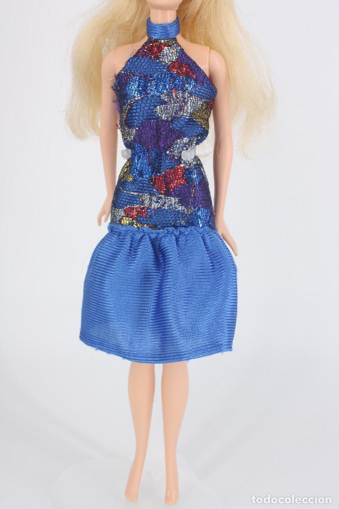 Barbie y Ken: Vestido color azul sin marca válido para Barbie o similar - Foto 3 - 219138162