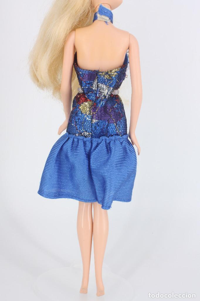 Barbie y Ken: Vestido color azul sin marca válido para Barbie o similar - Foto 4 - 219138162