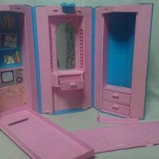 Barbie y Ken: MALETIN CASA OFICINA DORMITORIO DE MUÑECA BARBIE DE MATTEL 1984 ITALY. Lote 220548345