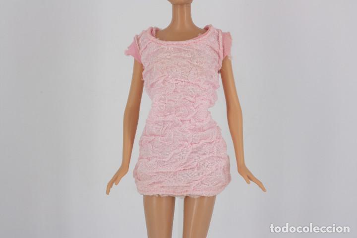VESTIDO COLOR ROSA PALO SIN MARCA VÁLIDO PARA MUÑECA BARBIE O SIMILAR (Juguetes - Muñeca Extranjera Moderna - Barbie y Ken - Vestidos y Accesorios)