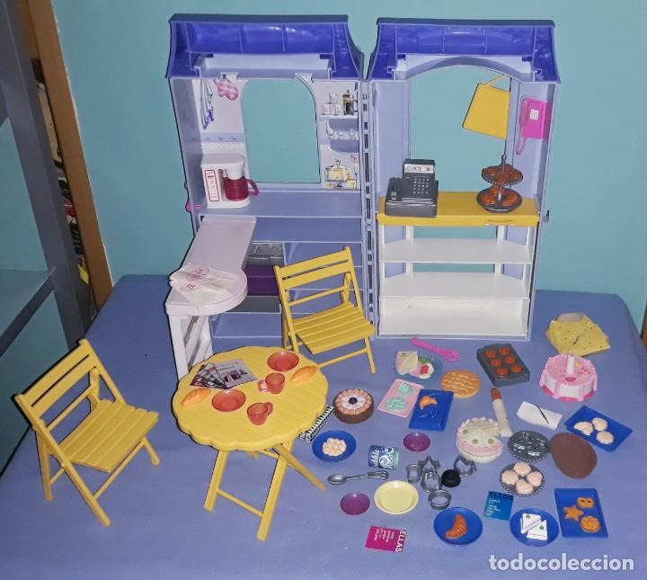 CAFE CON ACCESORIOS DE LA MUÑECA BARBIE ORIGINAL DE MATTEL (Juguetes - Muñeca Extranjera Moderna - Barbie y Ken - Vestidos y Accesorios)