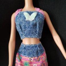 Barbie y Ken: CONJUNTO TOP Y PANTALON BARBIE. Lote 222538356