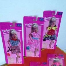 Barbie e Ken: LOTE SERIE COMPLETA DE 6 VESTIDOS MODA JOVEN BARBIE 1994.SIN ABRIR.. Lote 240534595