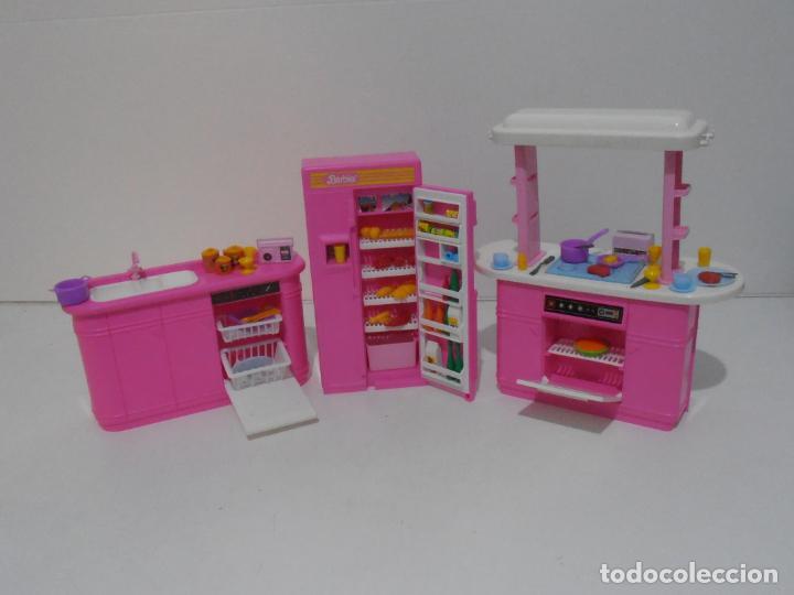 Barbie y Ken: BARBIE CONJUNTO DE COCINA, CAJA ORIGINAL, CASI COMPLETA, MATTEL AÑOS 80, MUY BUEN ESTADO - Foto 2 - 232796740