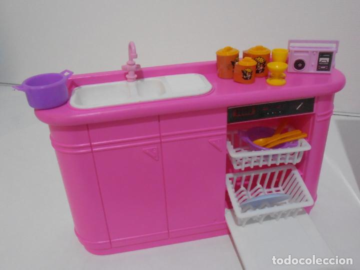 Barbie y Ken: BARBIE CONJUNTO DE COCINA, CAJA ORIGINAL, CASI COMPLETA, MATTEL AÑOS 80, MUY BUEN ESTADO - Foto 3 - 232796740