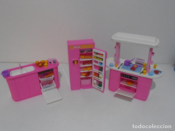 Barbie y Ken: BARBIE CONJUNTO DE COCINA, CAJA ORIGINAL, CASI COMPLETA, MATTEL AÑOS 80, MUY BUEN ESTADO - Foto 8 - 232796740