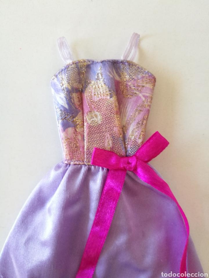 Barbie y Ken: Barbie vestido fiesta tirantes morado violeta Fashion gift set 1993 easy to dress años 90 - Foto 2 - 234922655