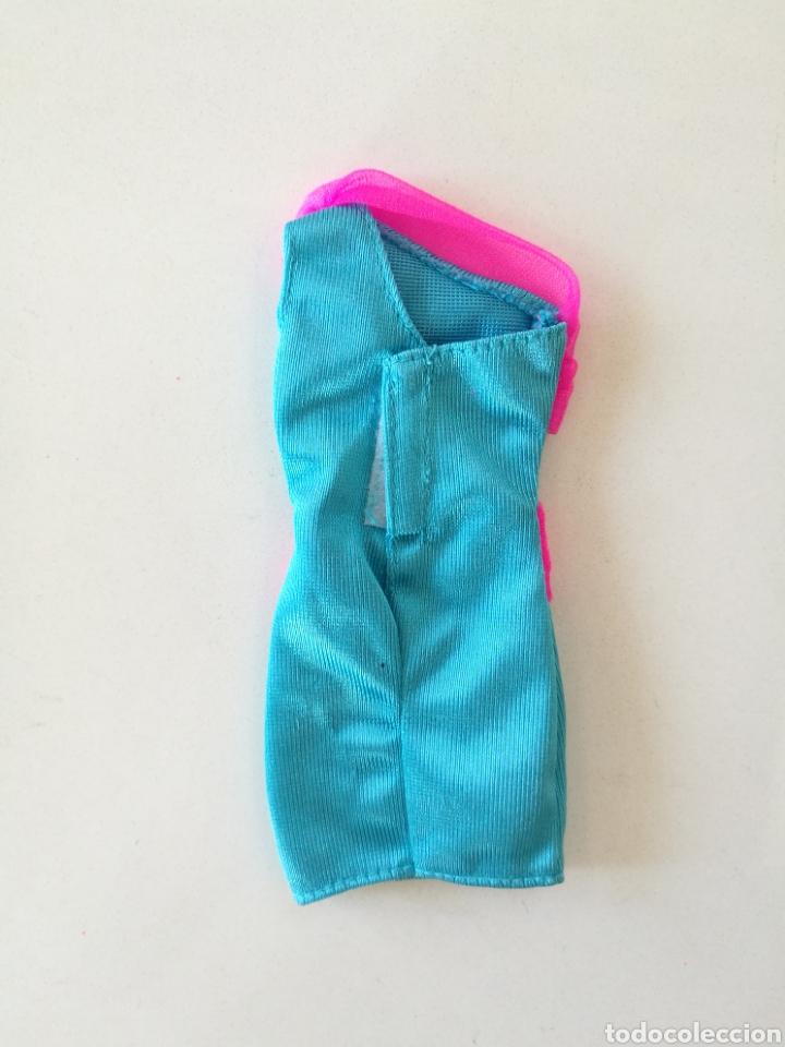 Barbie y Ken: Barbie vestido fiesta corto azul turquesa rosa fucsia Fashion gift set 1993 easy to dress años 90 - Foto 2 - 234923260