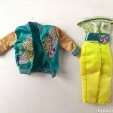 Barbie y Ken: BARBIE ROPA SENSATIONS ROCKIN BOPSY MONO VERDE Y CHAQUETA TURQUESA 1987 AÑOS 80 PELIRROJA MIDGE. Lote 236345505