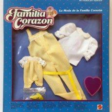 Barbie y Ken: MATTEL FC VESTIDO MODELO PETO LA MODA DE LA FAMILIA CORAZON. VINTAGE AÑO 1.986 NUEVO.. Lote 241670765