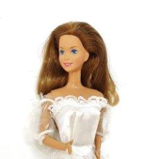 Barbie y Ken: VESTIDO DE NOVIA SIN MARCA TALLA BARBIE. Lote 245593605