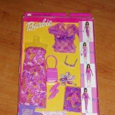 Barbie y Ken: BARBIE FASHION AVENUE VESTIDO ACCESORIOS NUEVO AÑO 2001 MATTEL. Lote 249304395