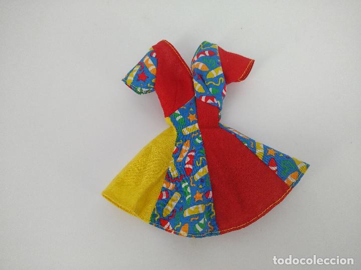 VESTIDO ESTAMPADO ORIGINAL BARBIE GENUINE - MATTEL, AÑOS 90 (Juguetes - Muñeca Extranjera Moderna - Barbie y Ken - Vestidos y Accesorios)