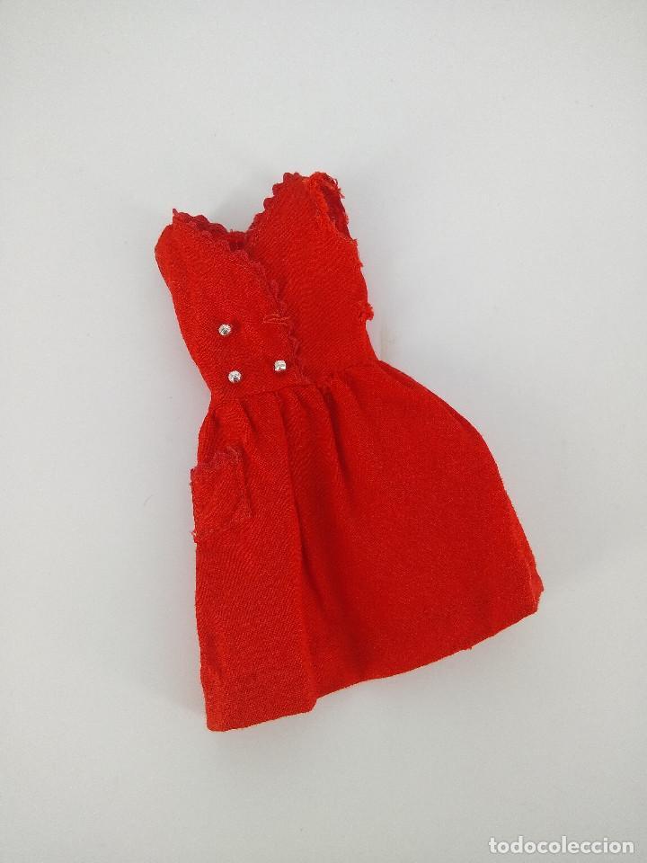 VESTIDO ORIGINAL SKIPPER VINTAGE #1901 RED SENSATION - MATTEL, 1964 (Juguetes - Muñeca Extranjera Moderna - Barbie y Ken - Vestidos y Accesorios)