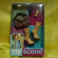 Barbie y Ken: MY SCENE ACCESORIOS, BOTAS, BOLSO, ETC., AÑO 2003, MATTEL, NUEVO SIN ABRIR.. Lote 257307840