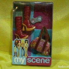 Barbie y Ken: MY SCENE ACCESORIOS, BOTAS, BOLSO, ETC., AÑO 2003, MATTEL, NUEVO SIN ABRIR.. Lote 257308270