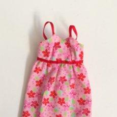 Barbie y Ken: BARBIE VESTIDO TIRANTES ROSA ESTAMPADO FLORES FASHION AVENUE. Lote 262344755