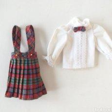 Barbie y Ken: MODA SKIPPER CONJUNTO YALE 2633 CAMISA BLANCA Y PETO CUADROS AÑOS 80 BARBIE. Lote 262938770