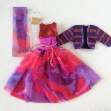 Barbie y Ken: BARBIE PRIVATE COLLECTION FASHION 1991 CONJUNTO VESTIDO FIESTA, CHAQUETA, PAÑUELO Y BOLSO AÑOS 90. Lote 262940195