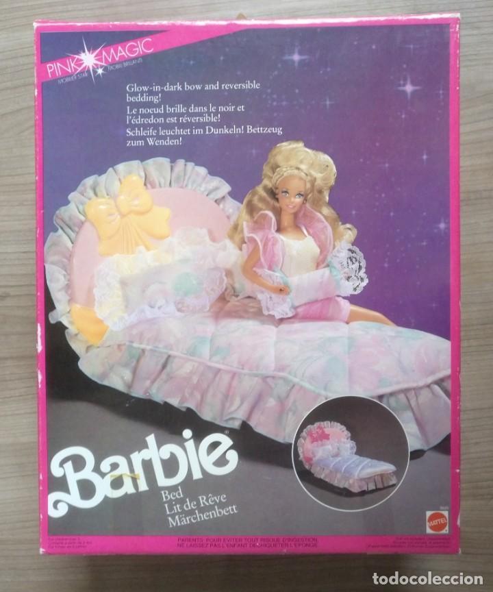 JUGUETE, ANTIGUA CAMA DE ENSUEÑO DE MUÑECA BARBIE, FALTA EL COLCHON, CON CAJA (Juguetes - Muñeca Extranjera Moderna - Barbie y Ken - Vestidos y Accesorios)