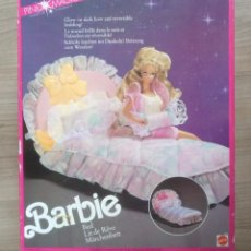Barbie y Ken: JUGUETE, ANTIGUA CAMA DE ENSUEÑO DE MUÑECA BARBIE, FALTA EL COLCHON, CON CAJA. Lote 269748033