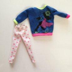 Barbie e Ken: BARBIE AND THE ROCKERS FASHIONS 1985 CAMISETA SUDADERA Y MALLAS BLANCAS AÑOS 80. Lote 274662068