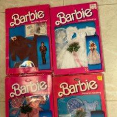Barbie y Ken: BARBIE ROMANTIC WEDDING FASHIONS LOT 1986 # 3102 3105 3104 3106 MATTEL NRFB NUEVO EN CAJAS. Lote 277113648