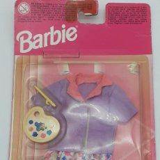 Barbie y Ken: BARBIE CONJUNTO DE ROPA DE PINTORA DE MATTEL EN SU BLISTER ORIGINAL. Lote 277479018