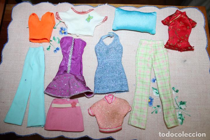 LOTE DE 10 PIEZAS ROPA PARA BARBIE O SIMILARES (Juguetes - Muñeca Extranjera Moderna - Barbie y Ken - Vestidos y Accesorios)