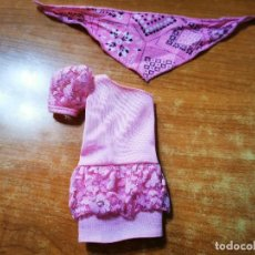 Barbie y Ken: VESTIDO BARBIE + PAÑUELO COLOR ROSA MATTEL. Lote 286957963