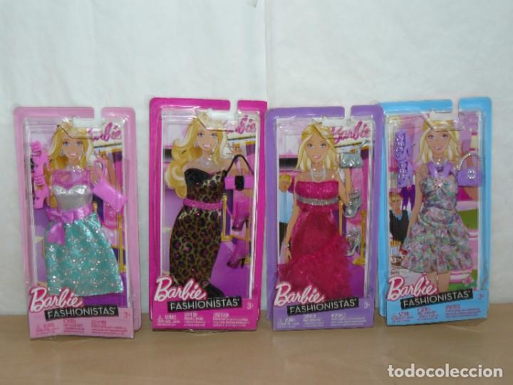 LOTE 4 CONJUNTOS BARBIE FASHIONISTAS ORIGINALES 2011 MATTEL DOLL DRESS REFS. 3178 3179 3180 3181 (Juguetes - Muñeca Extranjera Moderna - Barbie y Ken - Vestidos y Accesorios)