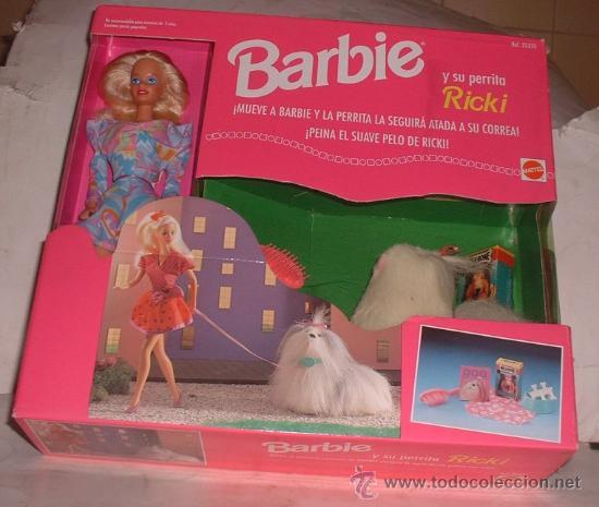 MUÑECA BARBIE + SU PERRITO RICKI EN CAJA. ( GA-32 ) CC (Juguetes - Muñeca Extranjera Moderna - Barbie y Ken)