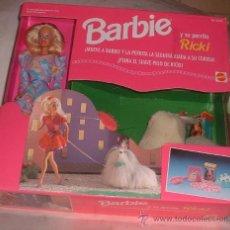 Barbie y Ken: MUÑECA BARBIE + SU PERRITO RICKI EN CAJA. ( GA-32 ) CC. Lote 28785287