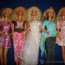 Barbie y Ken: CONJUNTO DE CINCO BARBIES DEL AÑO 98, EXCEPTO UNA QUE ES DEL 2003. Lote 30205643