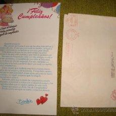 Barbie y Ken: CLUB DE LAS AMIGAS DE BARBIE, 1980 CARTA COMERCIAL , FELICITACION DE CUMPLEAÑOS . Lote 32533499
